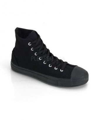 Demonia high top canvas sneakers