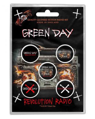 Green Day Revolution Radio PINS 5-PACK