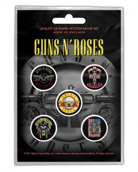 Guns N Roses PINS 5-PACK