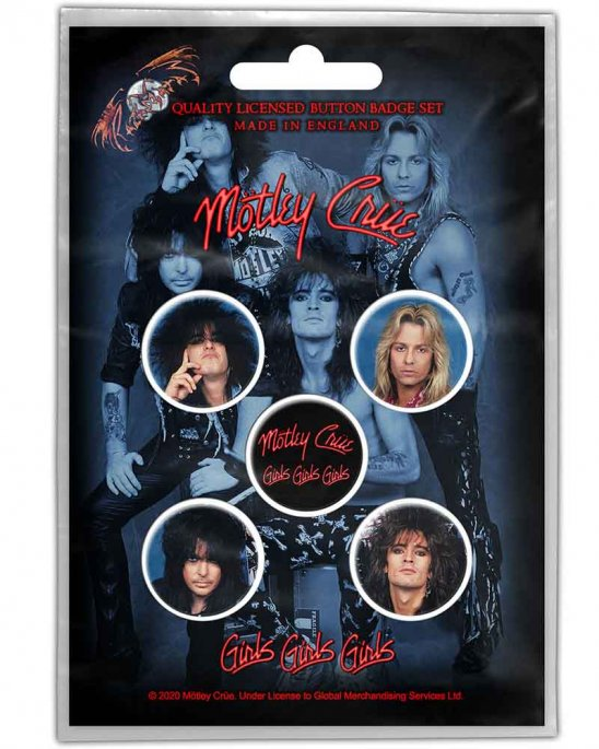 Mötley Crue Girls PINS 5-PACK