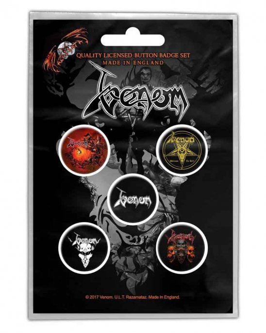 Venom Black Metal PINS 5-PACK